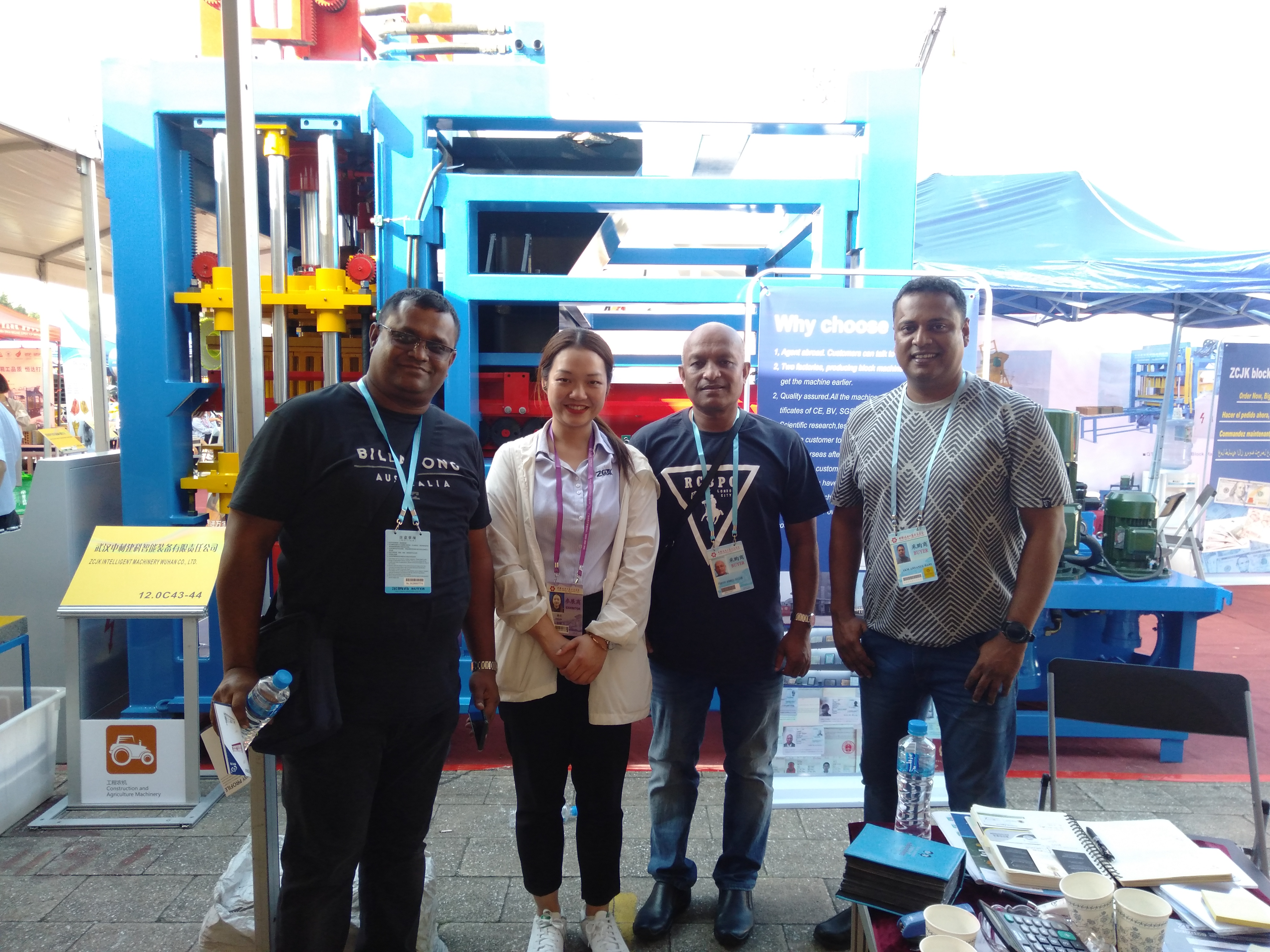 4th day in ZCJK Booth:12.OC43&44 - ZCJK Machine attending the Canton Fair