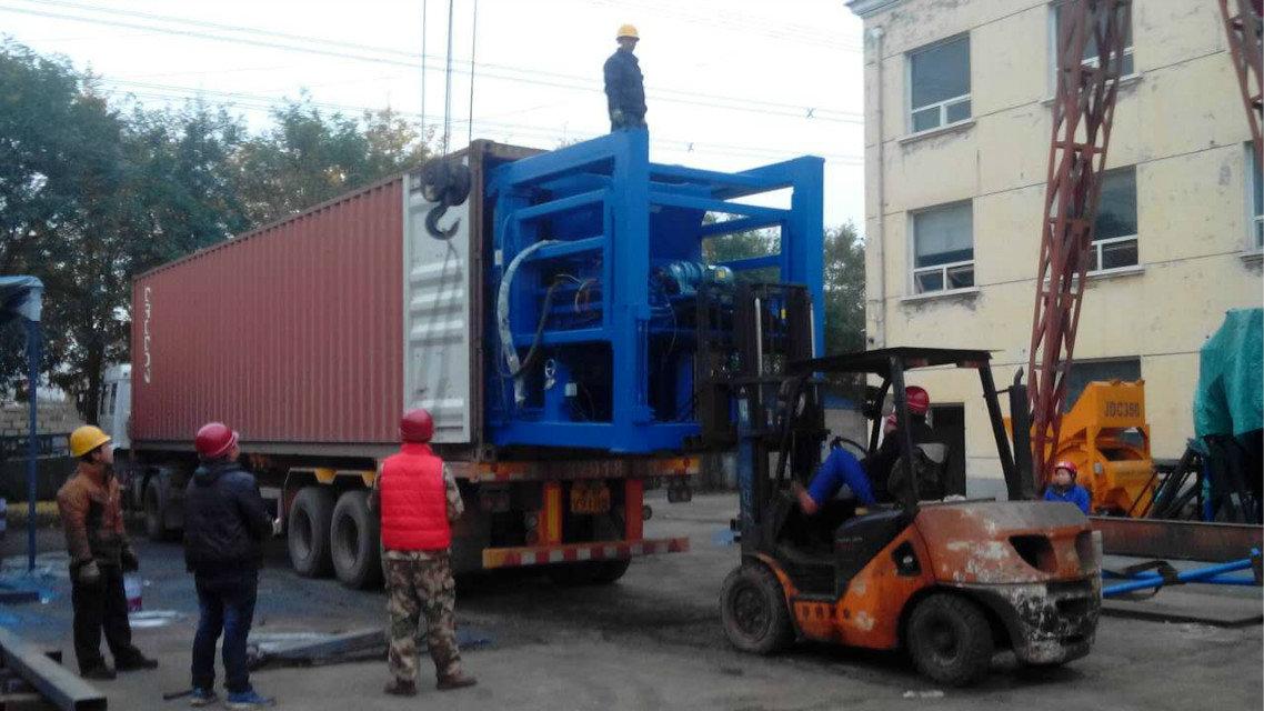 南美三台9块机装箱QTY9-18 loading container to South America (2)
