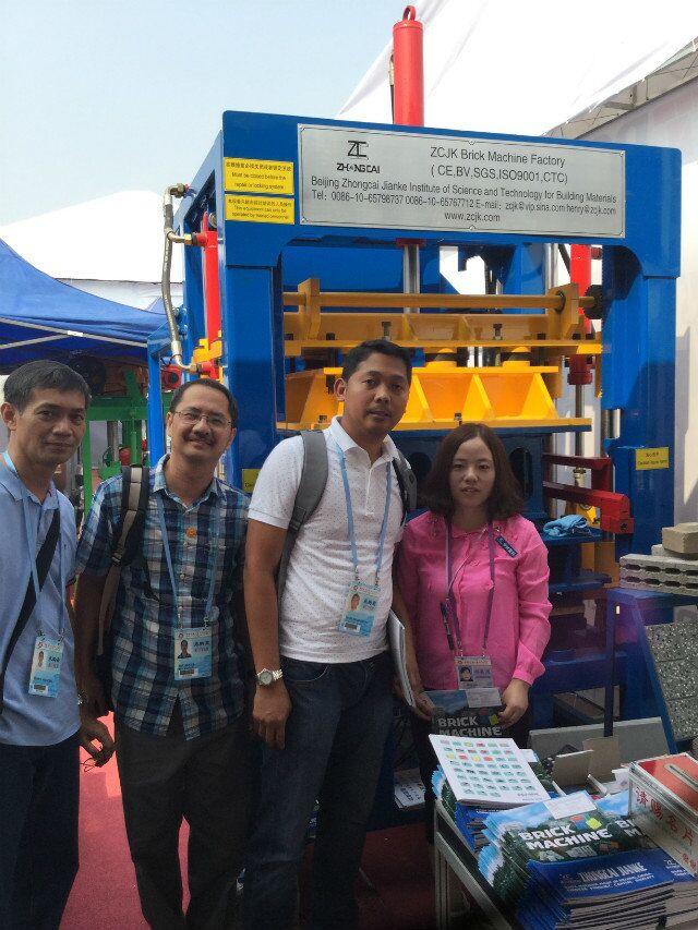 ZCJK block making machine factory attend the Canton Fair