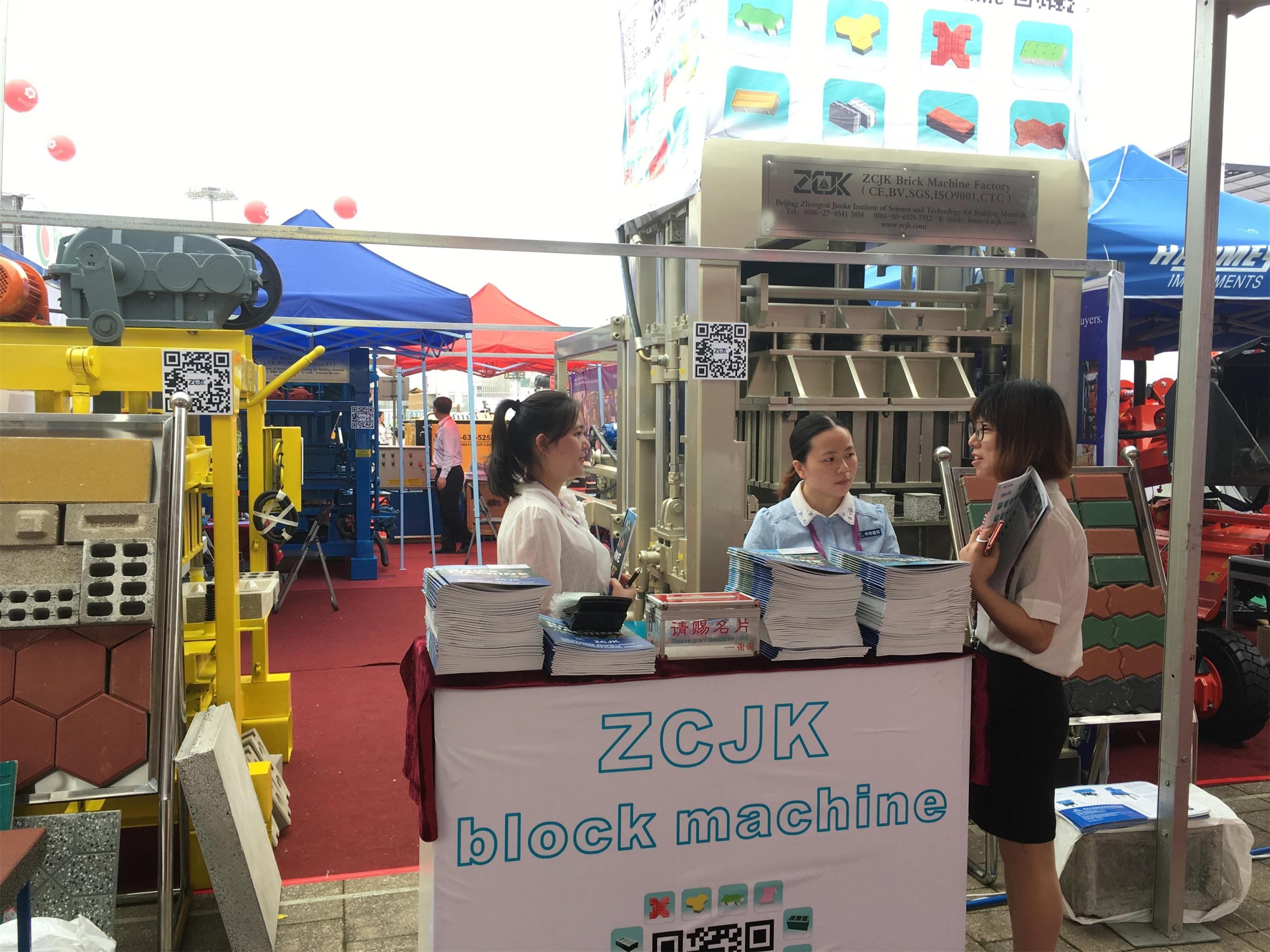 1st day in ZCJK Block Machine Booth, welcome your visit in Canton Fair