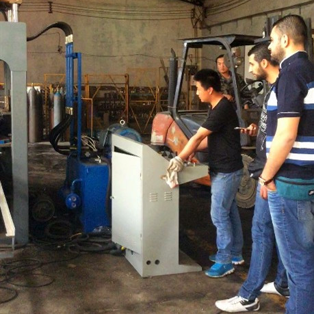Syria customer training in Beijing factory and delivery goods